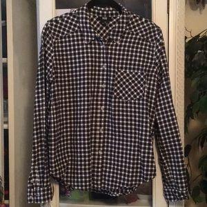 Paige flannel shirt, Sz M